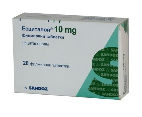 Есциталон табл 10 мг 28 изображение